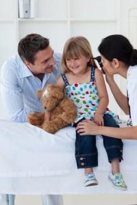 child treated for pediatric sinusitis