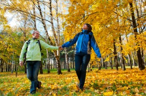 outdoors in fall allergy season