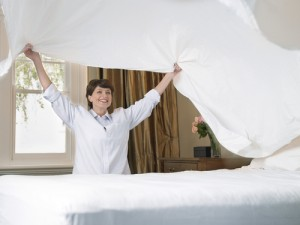 Changing the bedding to help allergies