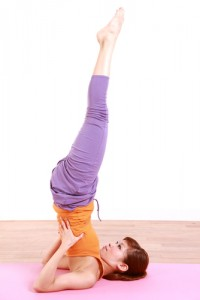 Yoga poses like shoulder stand can help alleviate your sinusitis symptoms.