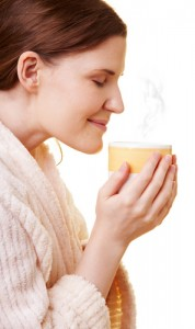 Inhaling the steam from a hot mug of herbal tea can help your sinuses.